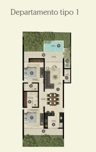 departamento en chuburna de hidalgo, complejo residencial
