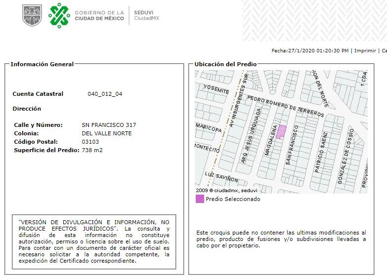 departamento en del valle mx20-hq0820