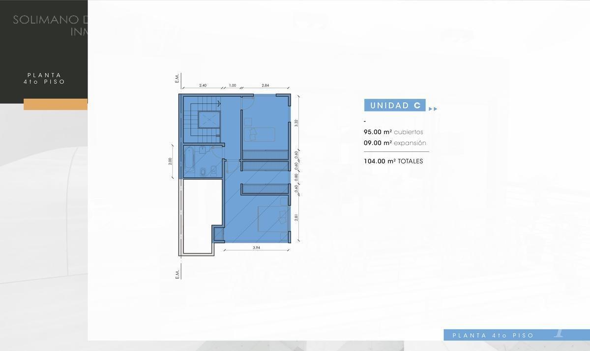 departamento en duplex 3 amb con balcón/terraza - la lucila