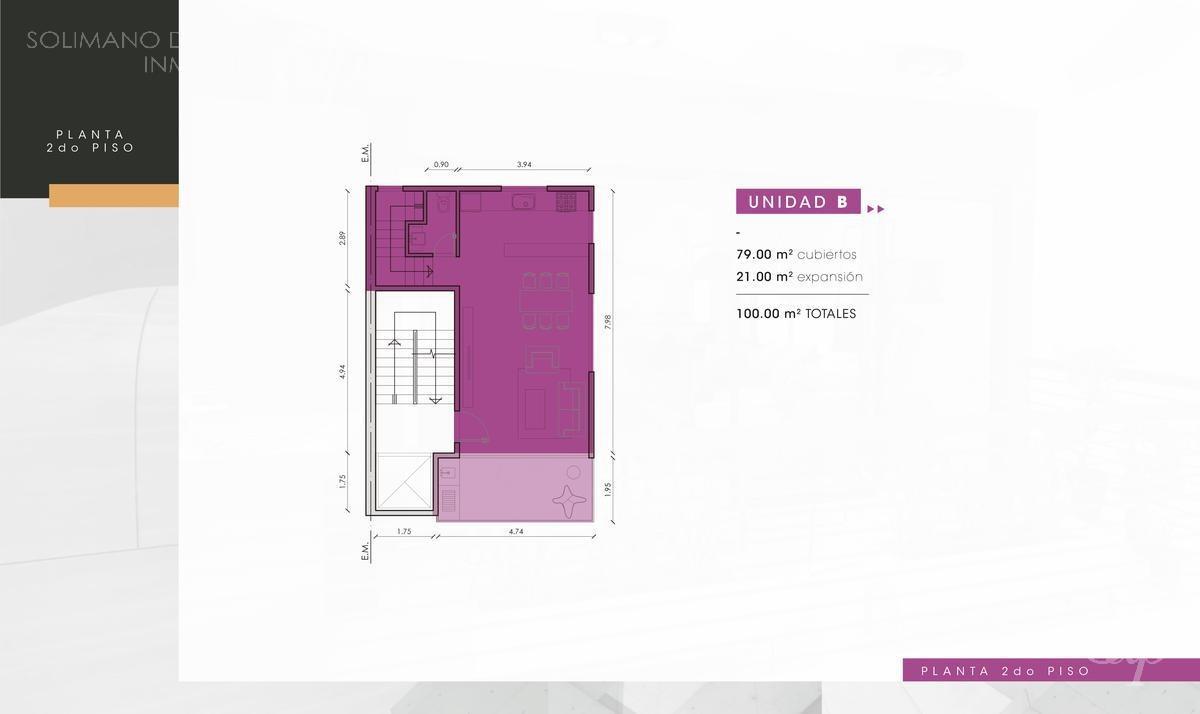 departamento en duplex 3 amb con jardín - la lucila