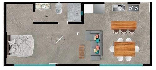 departamento en kuro modelo estudio terraza