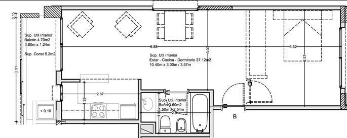 departamento en palermo 2 ambientes con cochera