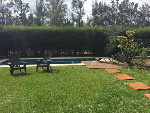 departamento en pb con jardín y piscina propia en chateau nordelta