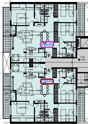 departamento en pichincha - 3 dormitorios