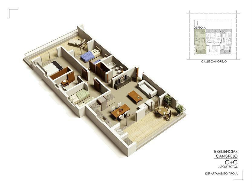 departamento en pinamar - 3 dormitorios