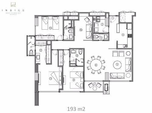 departamento en piso 3 con vista al parque, torre indico, vía montejo