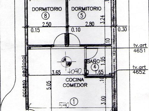 departamento en planta baja al frente con 2 cocheras y patio en villa sarmiento de 3 ambientes