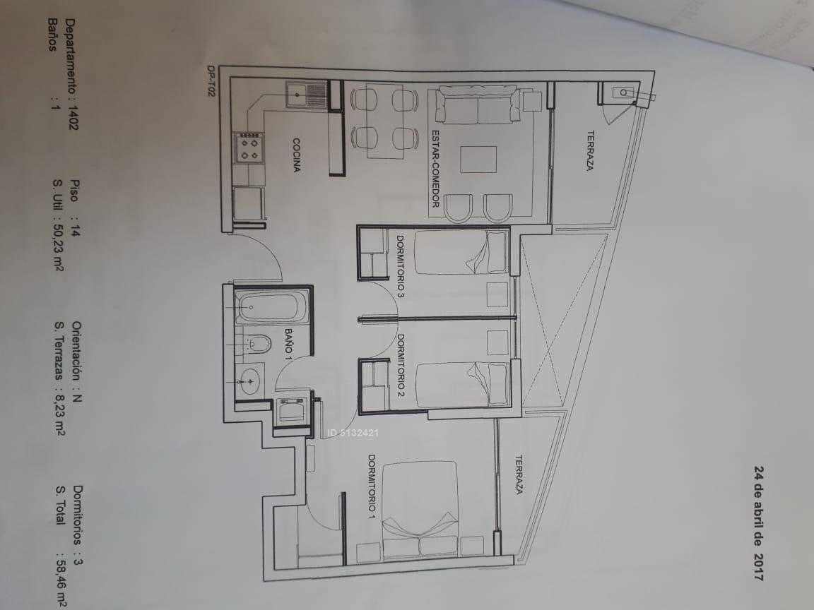 departamento en playa herradura, 3 dormitorios, 1 baño,