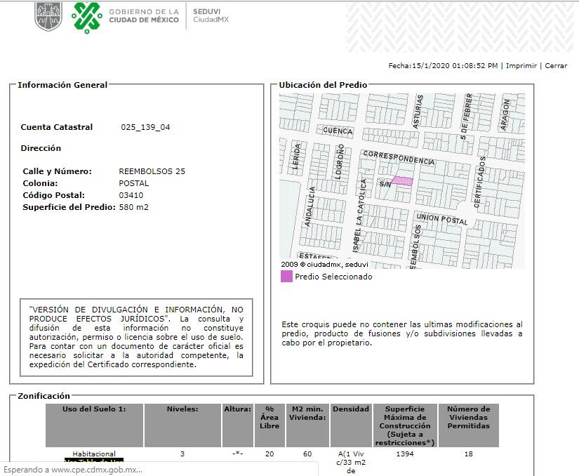 departamento en postal mx20-ho2701