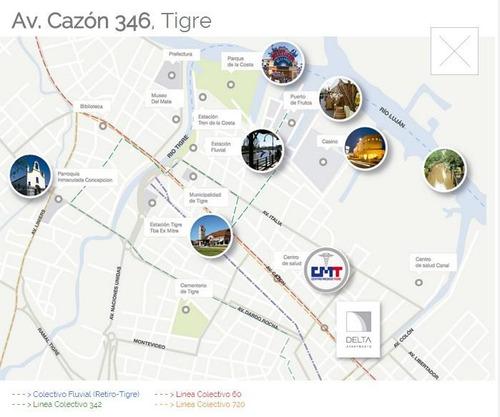 departamento en pozo - ciudad de tigre - financiación. entrega: mar 2019