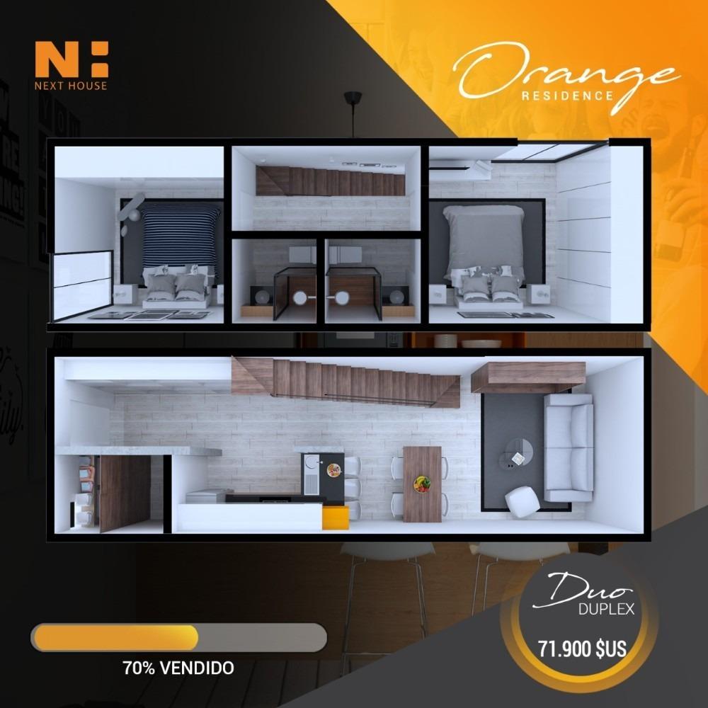 departamento en pre venta de 2 dormitorio, condominio orange