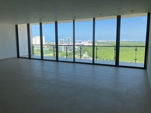 departamento en renta 3 recamaras be towers cancun