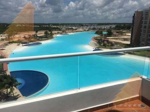 departamento en renta , amueblado 3 recamaras vista a la laguna dreams lagoon