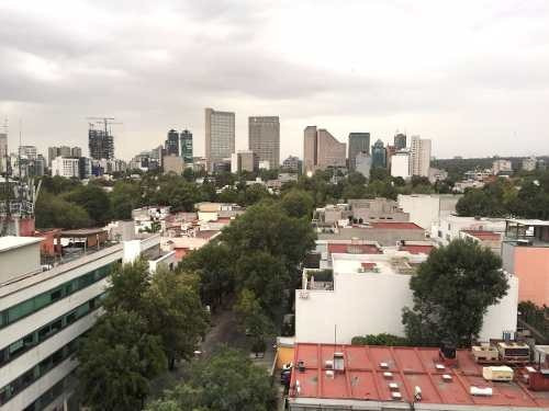 departamento en renta amueblado en piso alto en polanco, cdmx