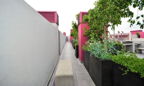 departamento en renta calzada méxico tacuba. 2 recámaras, 1 baño, 2 estacionamientos, roof garden pr