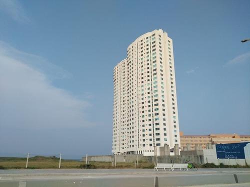 departamento en renta en torre jv. boca del río, ver. vista al mar