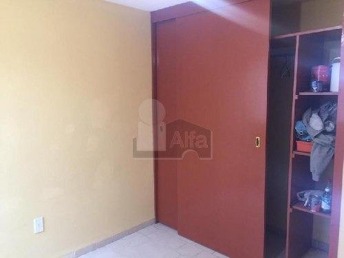 departamento en renta, rinconada de aragon, en planta baja, dos recamaras con closet