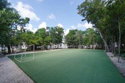 departamento en renta ubicado en puerto morelos en residencial alborada en privada con alberca.