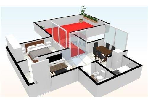 departamento en venta 2 amb terraza en palermo