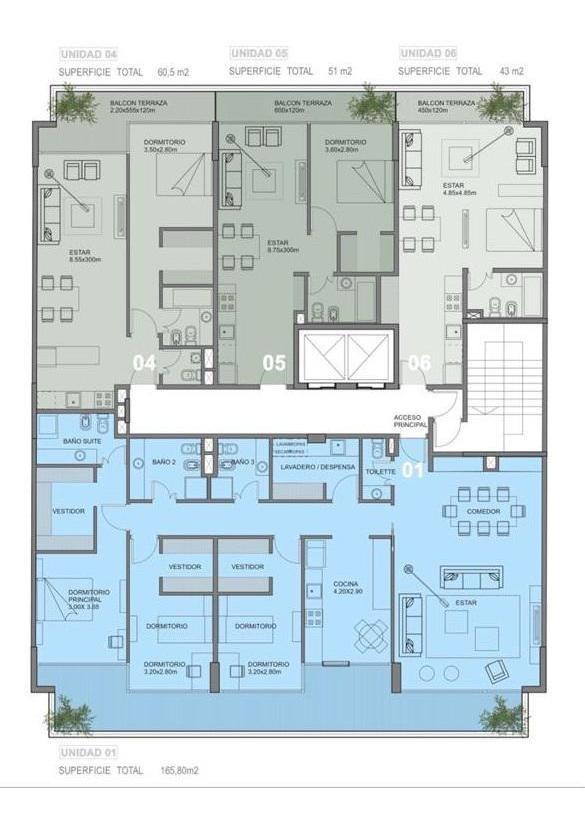 departamento en venta 2 ambientes núñez