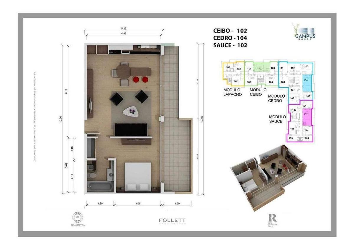 departamento en venta 2 ambientes villa martelli pozo
