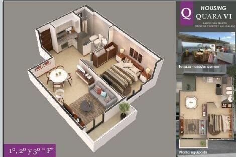 departamento en venta 2 dormitorios con 2 balcones en housing quara vi | barrio san martín
