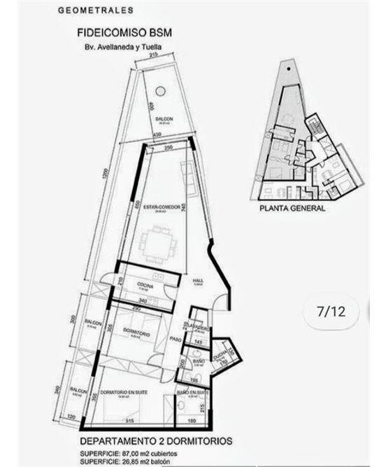 departamento en venta 2 dormitorios en arroyito