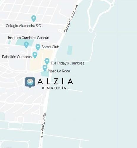 departamento en venta alzia, avenida cumbres, cancún (tipo 1,2,5 y 6)