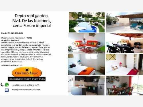 departamento en venta blvd de las naciones cerca del forum con roof garden