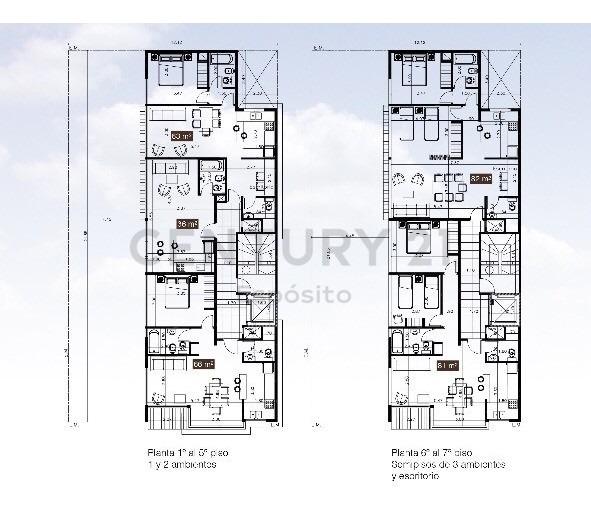 departamento en venta, calle almirante browm 2575/77 plaza mitre, mar del plata