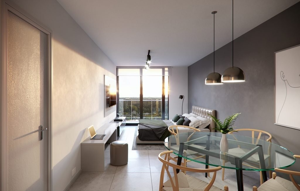 departamento en venta de 1 dormitorio con balcon - al pozo con financiacion