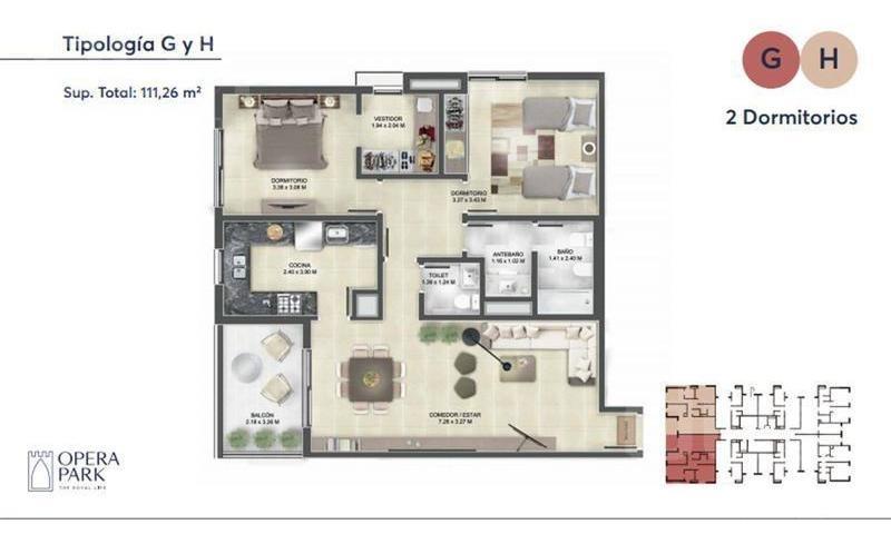 departamento en venta de 1 dormitorio en complejo opera park!!!