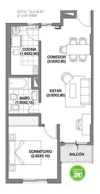 departamento en venta de 1 dormitorio en córdoba