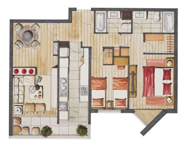 departamento en venta de 2 dormitorios en ñuñoa