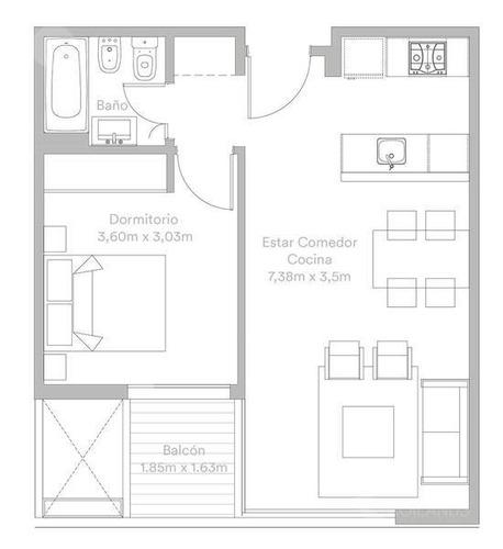 departamento en venta desde pozo 2 ambientes - caballito