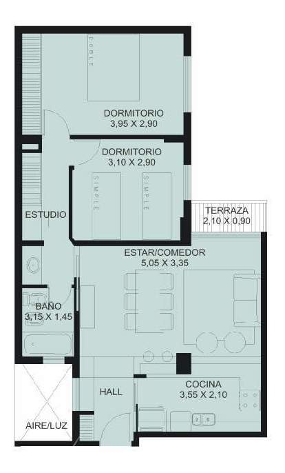 departamento en venta, dos dormitorios, nueva córdoba