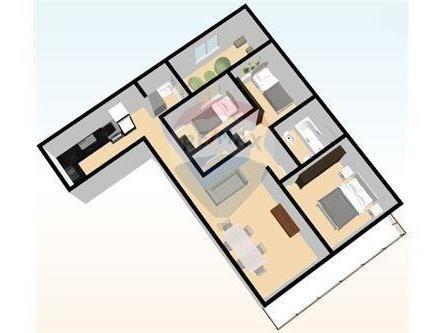 departamento en venta en almagro de 4 ambientes con dependencia al frente