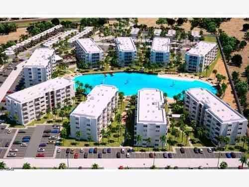 departamento en venta en bluu proyecto innovador en area marina mazatlan con laguna cristalina