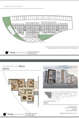 departamento en venta  en campo azul residencial