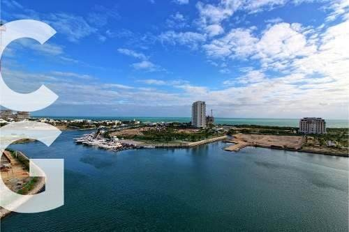 departamento en venta en cancun en aria puerto cancun con 2r