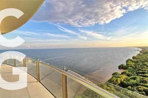 departamento en venta en cancun en peninsula frente al mar