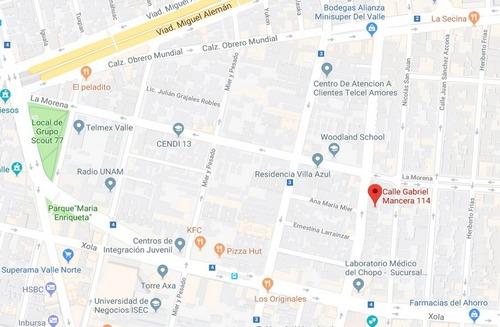 departamento en venta en del valle $3,340,000.00 pesos