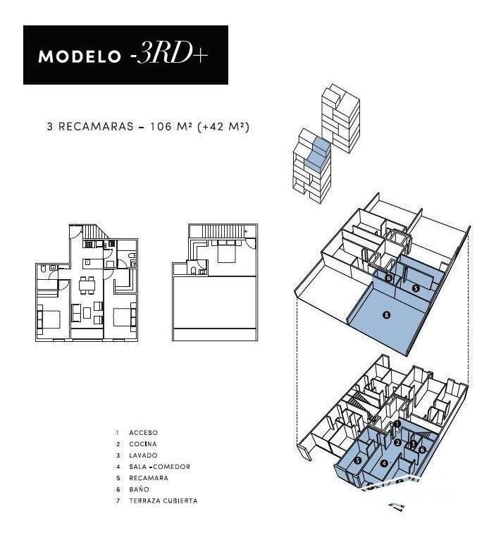 departamento en venta en la zona de galerias serdan. sd-1803e
