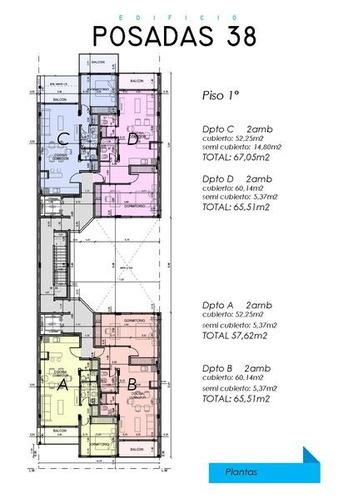 departamento en venta en moreno, tres ambientes- excelente proyecto.