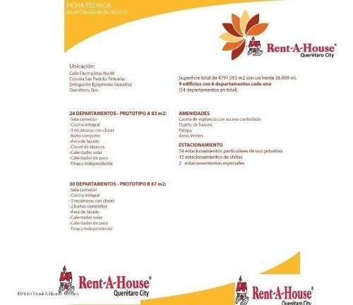 departamento en venta en penuelas, queretaro, rah-mx-20-444