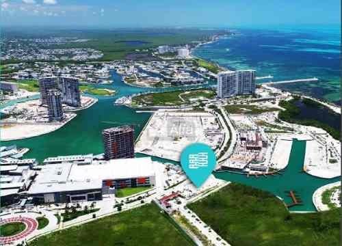 departamento en venta en zona hotelera  puerto cancún, quintana roo