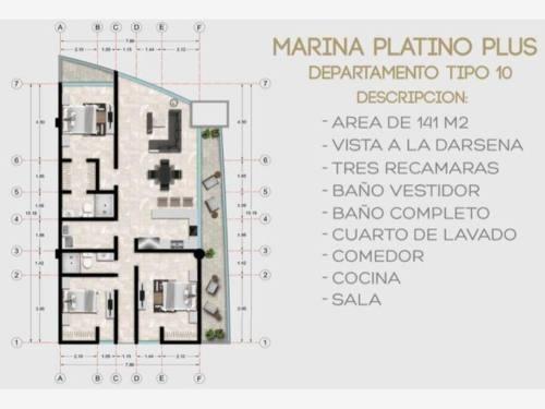 departamento en venta marina platino plus condominios de lujo con yate