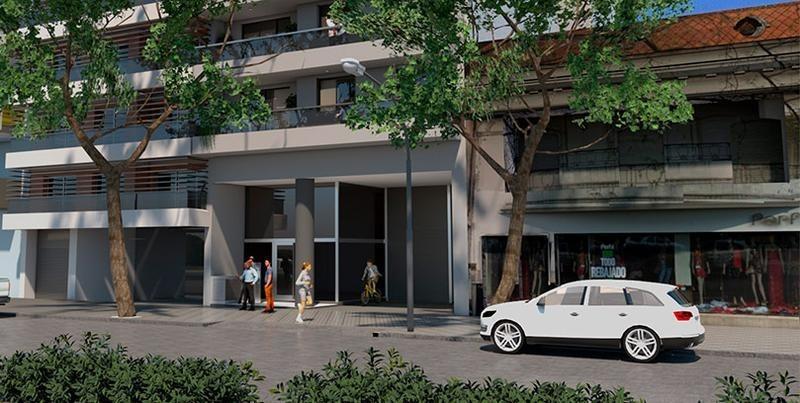departamento en venta monoambiente al frente con balcón terraza - scuba 47 - avda pellegrini 1267