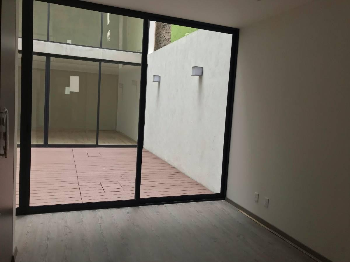 departamento  en venta nuevo pb con terraza en la escandon