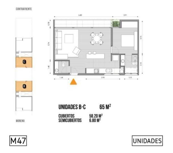departamento en venta pozo 3 ambientes san isidro